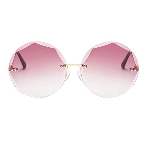 conducción sin protección gafas retro de marco sol lentes montura de geometría poligonales de ultravioleta metal Deylaying Gafas Marrón anti regalos tT7wCt