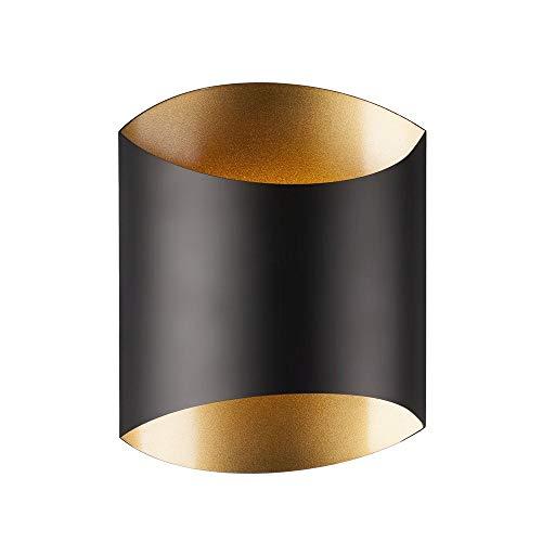 Black Flat Sconce - Kuzco Lighting Flat Black W/Gold LED Sconce