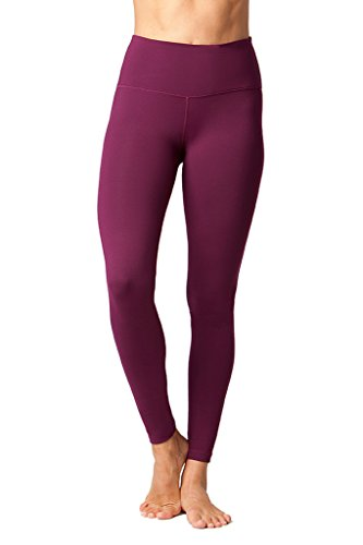 90 Degree By Reflex High Waist Power Flex Legging – Tummy Control - Dark Berry - Small