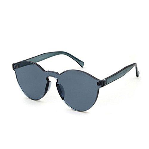 Caramelo de Gris Gafas Mujer Sol wlgreatsp Transparente de Retro Gafas Color 4qA5w1wx8