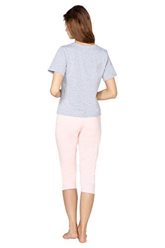 2XL L Pigiama T Corta Bello Capri Manica Mia L'estate M BeComfy S shirt Donna Grigio di Cotone per Morbido Pantaloni XL da TRdWqZ
