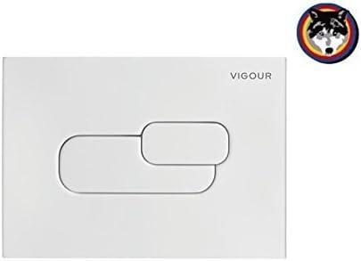 WC Drückerplatte,Betätigungsplatte Vigour DON weiss für  2-Mengen-Spültechnik