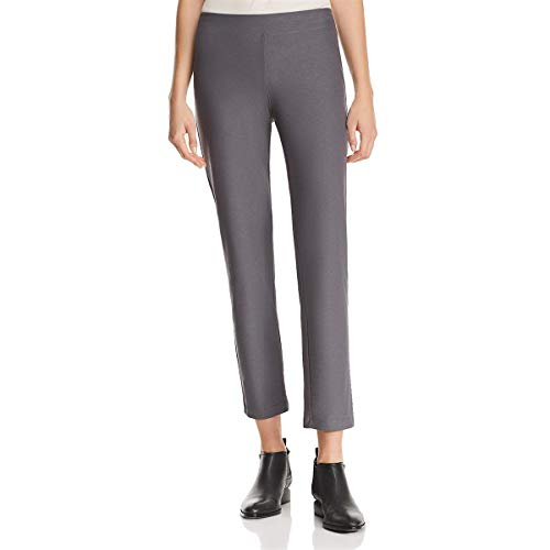 Eileen Fisher Womens Crepe Comfort Waist Ankle Pants Gray XS ()