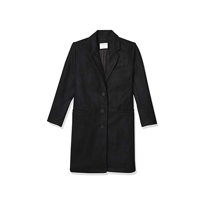 31RYggylWXL Una capa esencial, este abrigo de felpa de gran tamaño con botones frontales es tan cálido como elegante. Con un cierre frontal de tres botones, bolsillos delanteros con abertura y una parte trasera cosida. 56% Acrílico, 39% Poliéster, 5% Lana