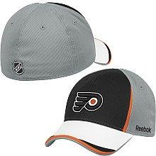 Draft Center Ice (Reebok Philadelphia Flyers 2010 Draft Center Ice Stretch Fit Hat Small/Medium)