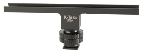 "K-Tek SHOE BAR: A 6"" machine aluminum standard shoe bar on a Delrin shoe, allows for mounting multiple accessorieson a camera shoe"