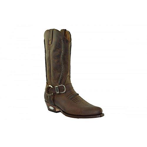Biker 2476 44 Herren Größe Loblan LOBLAN und stiefel Damen Westernstiefel Brown Braun Boots PCqndUx