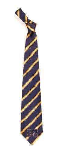 Michigan Wolverines Striped Mens Neck Tie