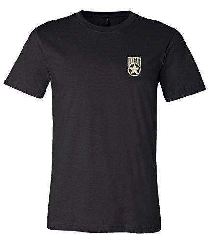 American Flag Jeep Wrangler JK T Shirt Medium Black (Design on Back)
