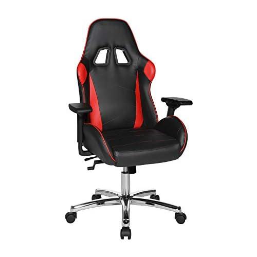 chollos oferta descuentos barato Topstar Speed Chair 2 giratoria de Oficina Videojuegos Silla de Chef Piel sintética Rojo y Negro Talla ún