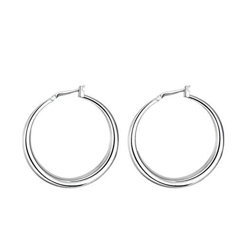 Kikole Fashion Earrings Hoops, 18k Rose Gold Plated Hoop Earrings for Women Silver Plated Jewelry