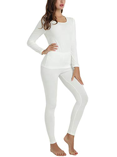 Cherrydew Women's Ultra Soft Thermal Underwear Set Cotton Long Johns Top and...
