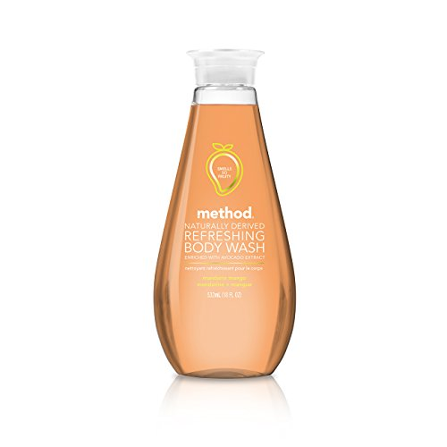 Method Naturally Derived Refreshing Body Wash Enriched With Avocado Extract, Mandarin Mango, 18 Ounce (6 Count)