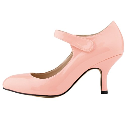 Toe Escarpin Pointed Heel WanYang Femme Stiletto PU Cuir Soiree Pumps en Rose2 Talon Bas Danse xapqwYFYE