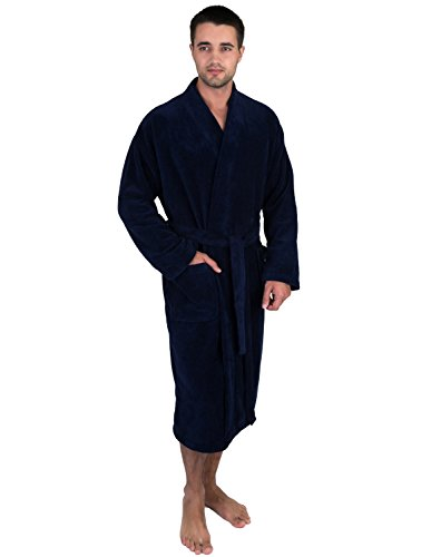 TowelSelections Fleece Terry Lined Absorbent Bathrobe
