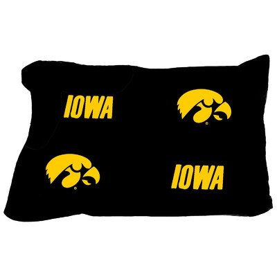 College Covers Iowa Hawkeyes Pair of Solid Pillowcase, King by College Covers