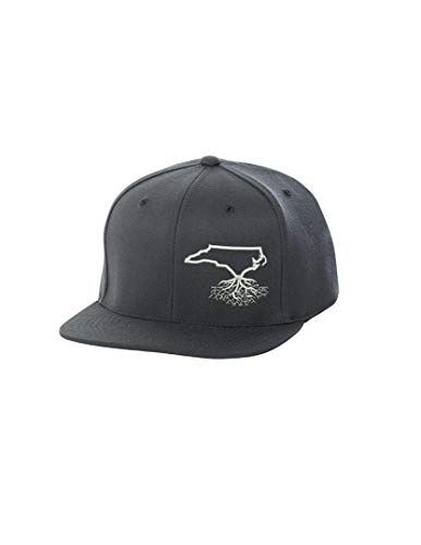 Wear Your Roots Flexfit Snapback (One Size - Adjustable, North Carolina Dark Grey)