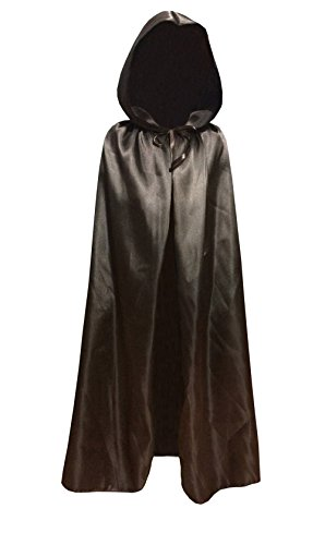 Children Kids Hood Cloak Costume Full Length Cape for Halloween Christmas Coaplay School Dress Up (100cm / 39.4inch, (Full Length Satin Cape)