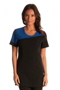 Muse tunic black royal blue size 34 clothing for Spa uniform amazon