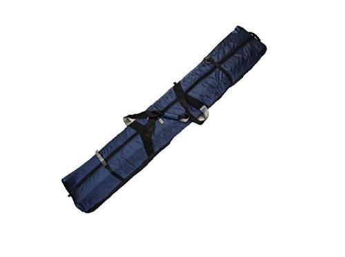 190 FULLY PADDED DOUBLE SKI BAG W/WHEELS - BLUE