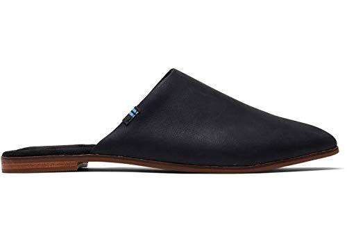 TOMS Women's Jutti Mule Black Leather 2 6.5 B US (Mens Mules Sneakers)