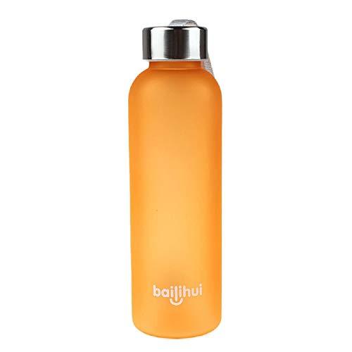 - Irene New Blue Bottle Water Cup Leak Tight Fruit Juice Sport Portable Travel 600ML (Orange)