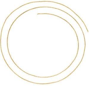 .9 mm 14k Yellow Gold Wheat Chain