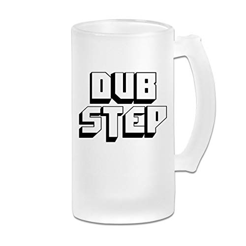 Poii Qon Dub Step 8 16 Oz Frosted Glass Stein Wine Beer Mug Drinking -