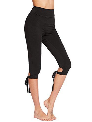 SweatyRocks-Womens-Wide-Waistband-Tie-Up-Cropped-Leggings