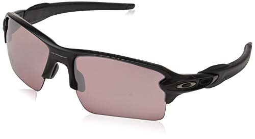 Oakley Men's Flak 2.0 XL Non-Polarized Iridium Rectangular Sunglasses, Matte Black, 59.0 mm ()