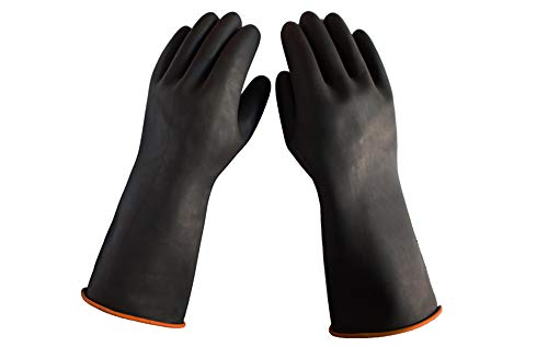 Heavy Duty Latex Gloves, Acid, Alkali and Oil Resistant, XL