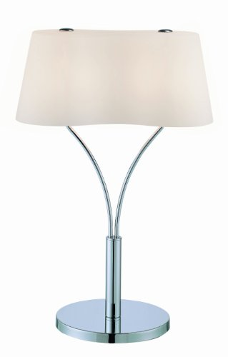 Lite Source LS-21539C/FRO Groda Table Lamp, Chrome with Frost Glass Shade, Metallic