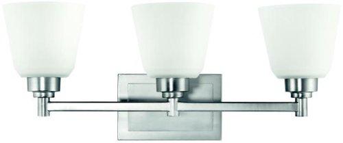 Kichler 5150NI Berwick Bath 3-Light, Brushed Nickel ()