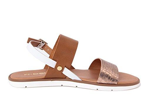 Colors For Life Sandale - Sandalias de material sintético para mujer marrón Marrón-marrón 36 v6iiPd