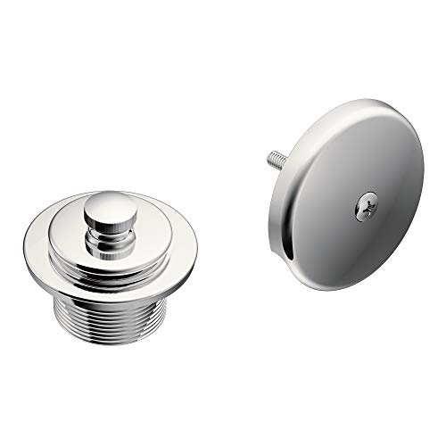 (Moen T90331 Push-N-Lock Tub and Shower Drain Kit with 1-1/2 Inch Threads, Chrome)