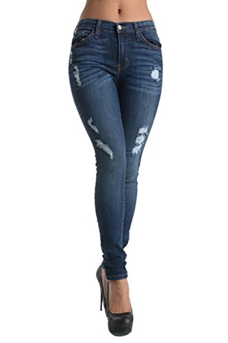 80f244536c4 new Kan Can Women s Super Skinny Distressed Jeans - dalstongarden.org