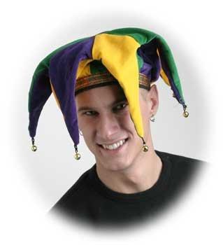 Mardi Gras Velvet Floppy Jester Hat