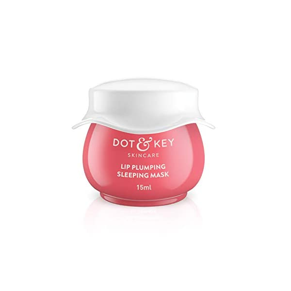 Dot & Key LIP PLUMPING SLEEPING MASK Vitamin C + E MINI, 15ml, Lip mask for dry lips 2021 July Made with Vitamin C & antioxidants, it gives moisture to dry lips Apply at night, and wake up to smoother lips Formulated with shea butter & manuka honey which provide intense moisturization