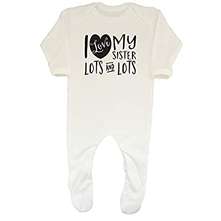 Shopagift Baby I Love My Sister Lots and Lots Sleepsuit Romper 31RZ6nj5sQL