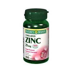 Natures Bounty Zinc 25 Mg - 100 Comprimidos