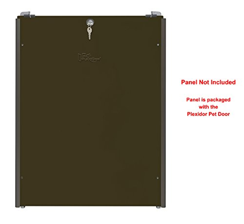 Plexidor Security Door - Plexidor Easy Slide Tracks for Security Panel That's Included with Extra Large Bronze Plexidor Pet Doors - Easy Mount, Easy Locking Security Panel Tracks