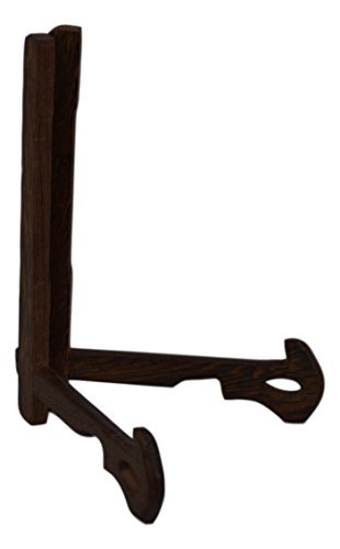 Rosewood Easel Plate Holder Folding Display Stands (7