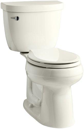 (KOHLER K-3851-U-96 Cimarron Comfort Height Two-Piece Round-Front 1.28 Gpf Toilet with Aquapiston Flush Technology, Insuliner Tank Liner, 10