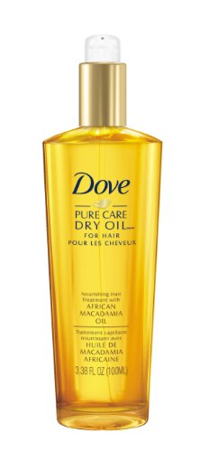 Jasmine Dry Oil - Dove Dry Oil, Pure Care Nourishing Hair Treatment with African Macadamia Oil 3.38 fl oz/100 ml.