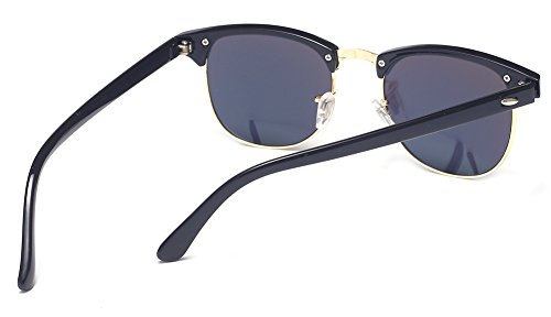 Outray Vintage Retro Classic Half Frame Horn Rimmed Clear Lens Glasses S2 Mirrored