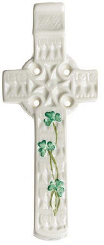 - Belleek Celtic Shamrock Wall Cross