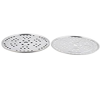 eDealMax metal Inicio Cocina Alimento del pan al vapor Rejilla para bandeja 23,5 cm