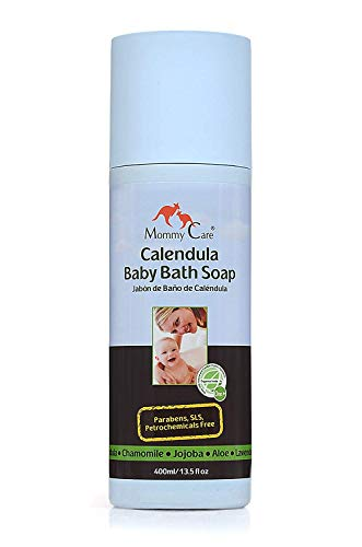 Mommy Care Baby Bath Soap Certified Organic Natural Calendula Body Wash for Babies Skin Newborn Eczema and Dry Skin [SLS and Paraben Free]