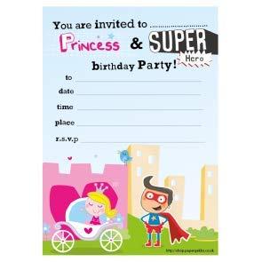 Premium Quality 20 Children S Birthday Party Invitations Princess
