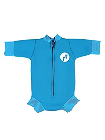 Ultimate Newborn Baby Neoprene Wetsuit Swimsuit 0-12 Months (Large, Aqua) Two Bare Feet ULTBAB